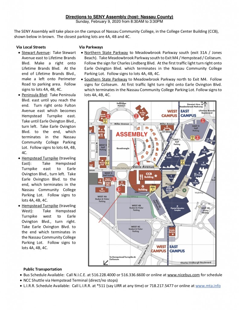 Directions to NCCC 2-9-20 Assembly