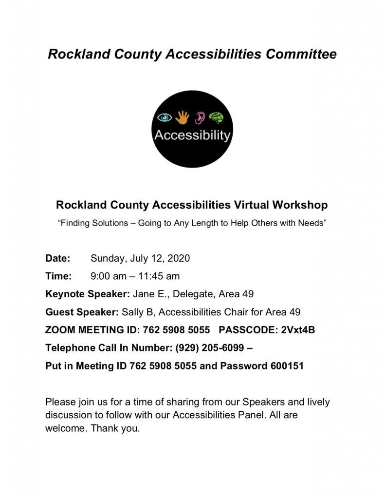 Accessibilities Virtual Workshop Flyer JPEG